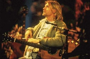 Kurt at the MTV Unplugged