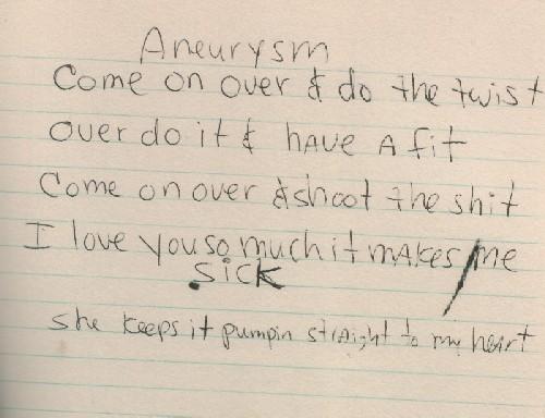 Nirvana - Aneurysm Lyrics | MetroLyrics